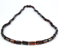 Cherry mens Baltic amber necklace