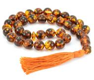 Baltic Amber Islamic Rosary 33 Prayer Round Beads