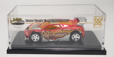 Hot Wheels 2002 Toy Fair MS-T Suzuka car promoting Mattel's Planet Hot Wheels.com lineup