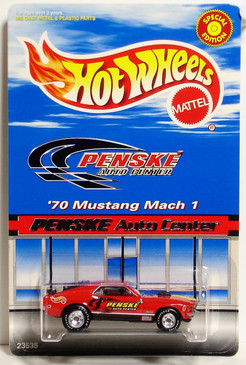 '70 Mustang Mach 1 Penske Auto Center Exclusive Limited Edition Hot Wheels