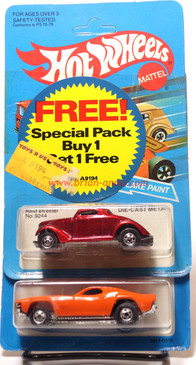 Hot Wheels Rare Store Promo, Old Blister Packs, Dixie Challenger & Neet Streeter