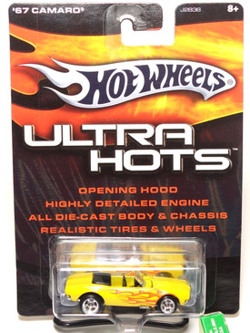Hot Wheels Ultra Hot Series '67 Chevy Camaro Convertible, Yellow with Flames