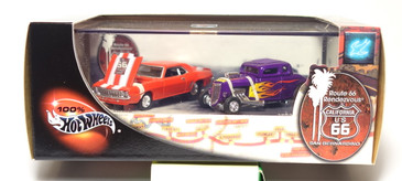 100% Hot Wheels Route 66 Rendezvous 2-car set, issued in 2002