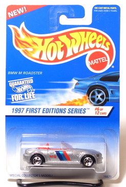 Hot Wheels Collector #518 BMW M Roadster, Silver with Black Painted Base