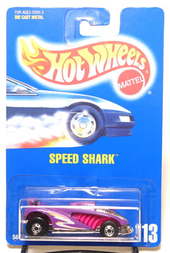 Hot Wheels Collector #113 Speed Shark in Purple with BW wheels, BP