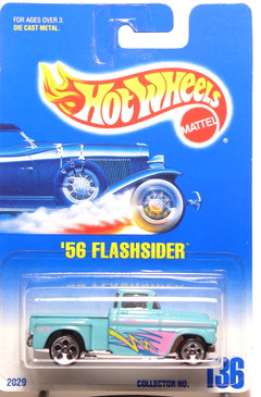 Hot Wheels Collector #136 Turquoise '56 Flashsider, HO5, BP