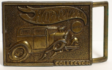 Hot Wheels Belt Buckle with Hot Rod