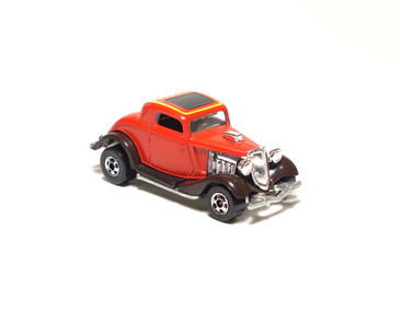 Hot Wheels 3-Window '34 Ford High Raker in Enamel Red, loose