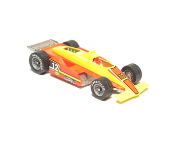 Hot Wheels Formula Fever in Yellow/Red with GYG Real Rider Tires, loose