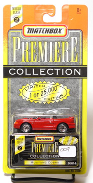 Matchbox Premiere Collection Series 2 Mustang Cobra Convertible in Red (009)