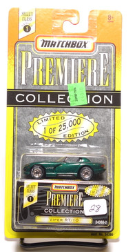 Matchbox Premiere Collection Series 1 Dodge Viper RT/10 in Green