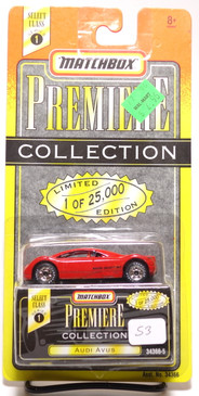 Matchbox Premiere Collection Series 1 Audi Avus in Bright Red