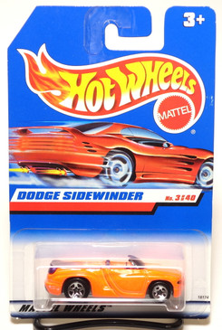 Hot Wheels International Card Dodge Sidewinder in Orange