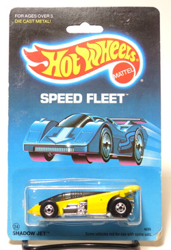Hot Wheels Old Blister Speed Fleet Shadow Jet in Yellow MOC
