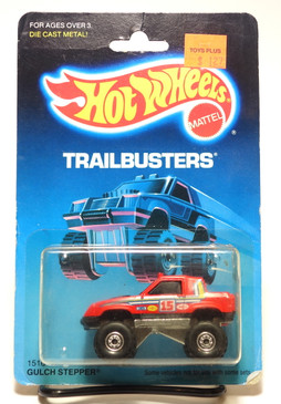 Hot Wheels Old Trailbusters Blister Gulch Stepper in Red