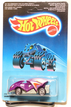 Hot Wheels Speed Demons unpunched international card, Vampyra in Purple