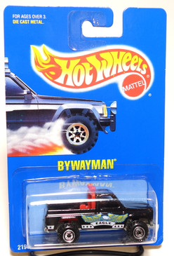 Hot Wheels Blue Card Bywayman in Black, Coll#77
