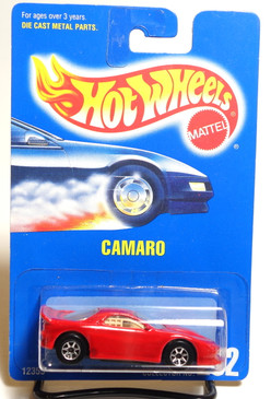 Hot Wheels Collector #262 Red Camaro with rare 7spk wheels
