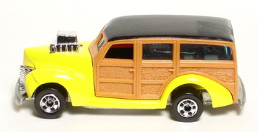 40's Ford Woodie, bright yellow with Blackwall wheels