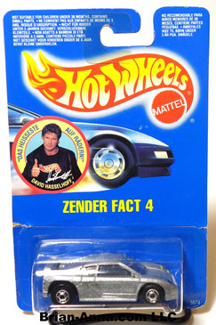 Hot Wheels German Promo - David Hassellhoff Zender Fact 4, HOC wheels