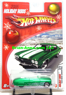 Hot Wheels 2005 Holiday Rods, 1949 Merc Convertible in Satin Green