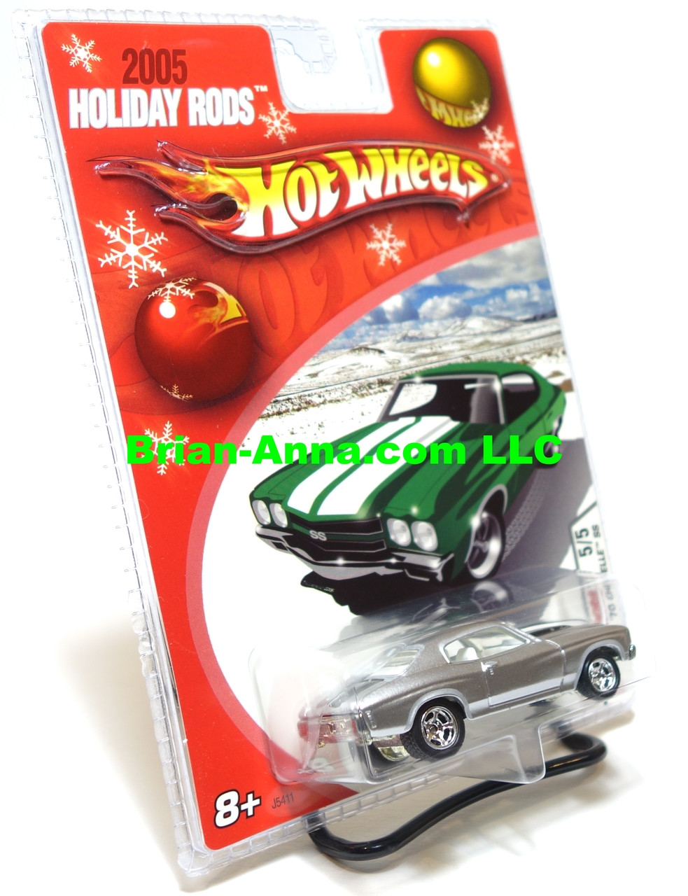 Hot Wheels 2005 Holiday Rods 1970 Chevelle Ss In Satin Red Hotwheels 12 Camaro Zl1 Green Silver