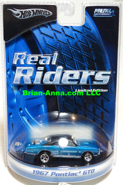 Hot Wheels Real Rider Series Limited Edition, Woodward Dream Cruise Promo, '67 Pontiac GTO