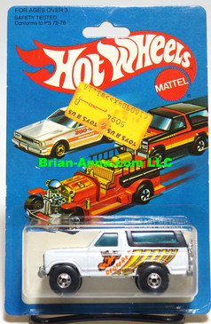 Hot Wheels Geoffrey Bronco, Blackwall whls, Hong Kong, Mint on card (540)