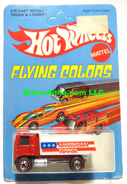 Hot Wheels Red Line American Tipper on Flying Colors Unpunched Card (ms3-546)