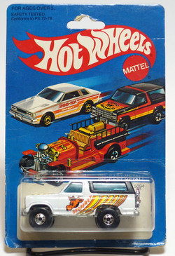Hot Wheels Geoffrey Bronco, Blackwall whls, Hong Kong, Mint on card (604)