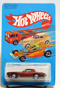 Hot Wheels Stutz Blackhawk, metalflake brown, BW wheels, unpunched card, Malaysia base (ms3-606)