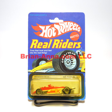 Hot Wheels Real Riders Thunderstreak, Gray Hubs, Malaysia base, damaged blister (ms3-)