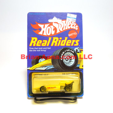 Hot Wheels Real Riders Lightning Gold, Gray hubs, Malaysia base