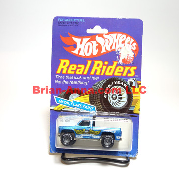 Hot Wheels Real Riders Bywayman, Gray hubs, Malaysia base, damaged pkg