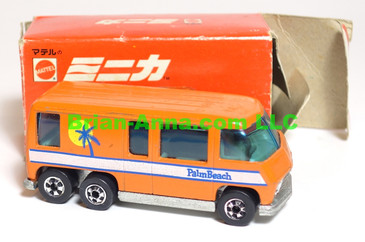 Hot Wheels Mattel Japan Box, GMC Motorhome in enamel Orange  with blackwalls