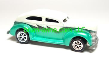 Hot Wheels Custom, Fat Fender 40 Ford, White over Green