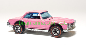 Hot Wheels 1973 Redline Mercedes Benz 280SL, Fluorescent Pink, loose