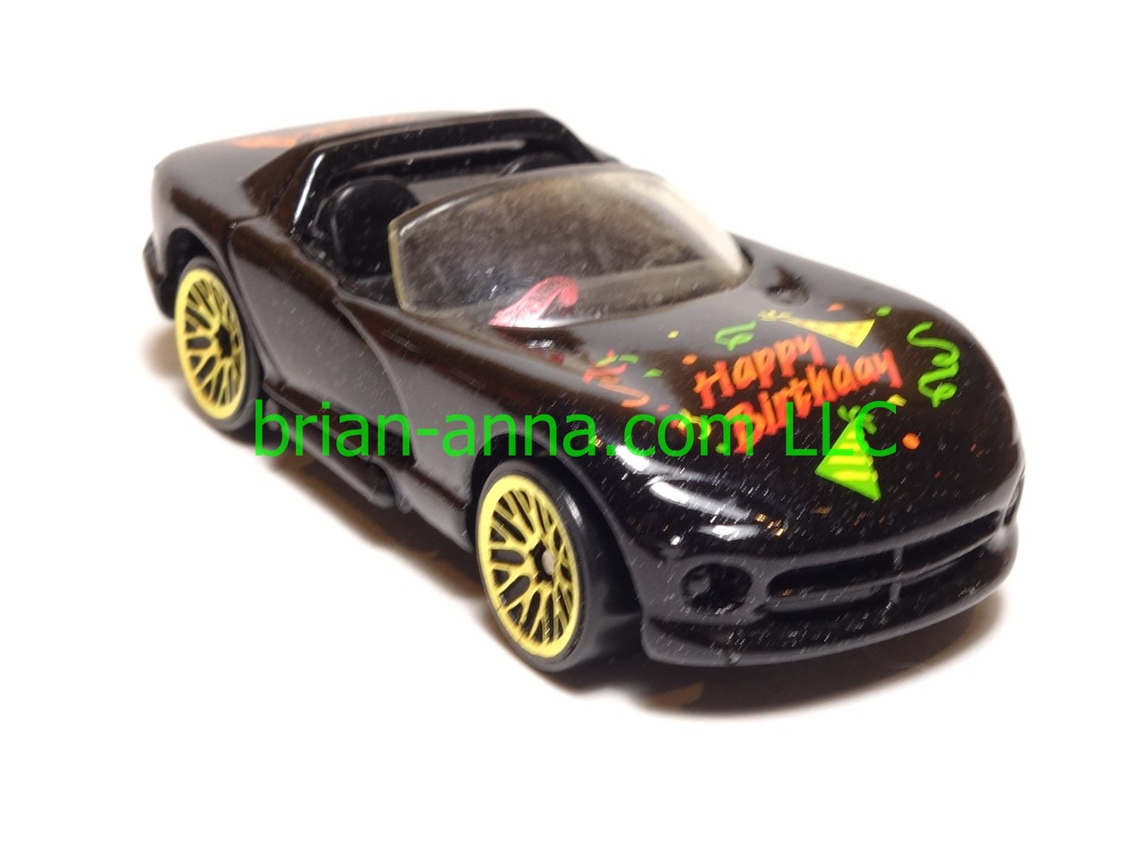 Hot Wheels Happy Birthday Dodge Viper Rt 10 Met Green Gold Lace