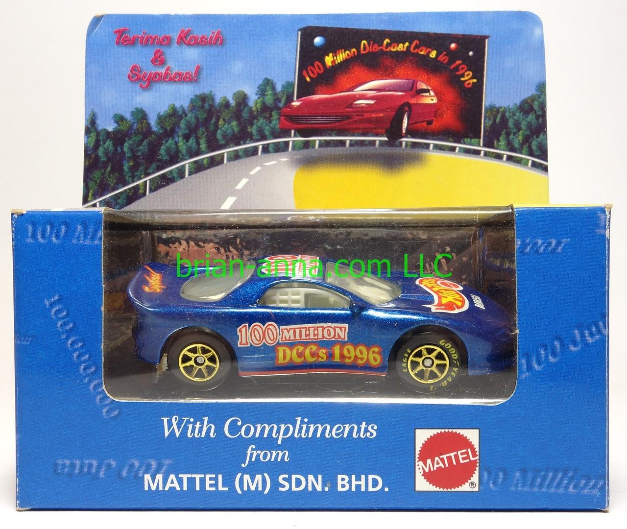 Hot Wheels Mattel Employee 1993 Camaro, Malaysia 100 Million Die Cast Cars in 1996