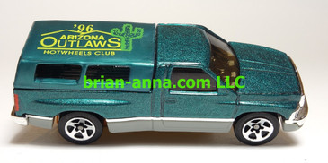 Hot Wheels 1996 Arizona Outlaws Club Car, Dodge Ram 1500, Loose