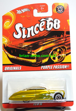 Hot Wheels Since 68 Originals, Purple Passion, Gold w/silver roof
