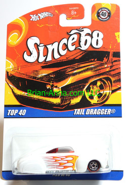 Hot Wheels Since 68 Top 40, Tail Dragger in White