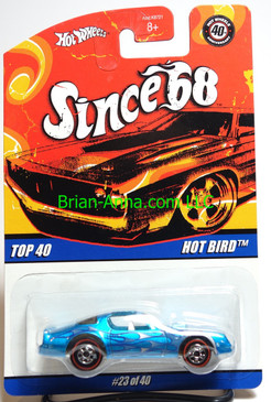 Hot Wheels Since 68 Top 40, Hot Bird in Blue