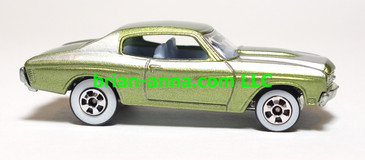 Hot Wheels Since 68 Top 40, '70 Chevelle SS in Green, LOOSE