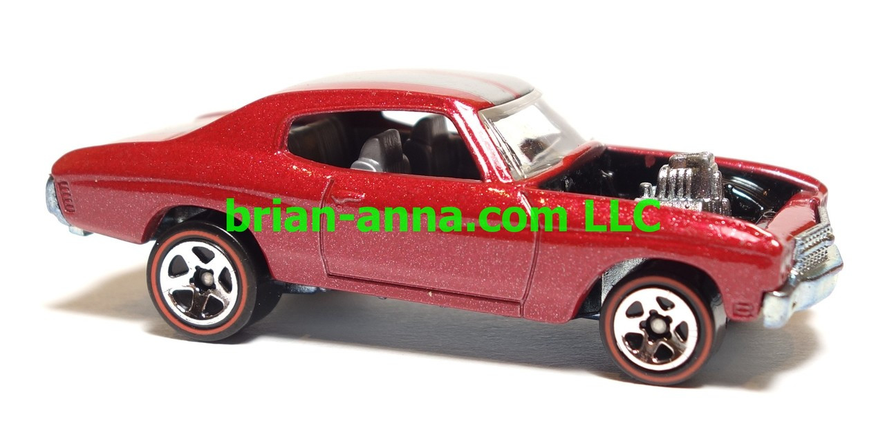 Hot Wheels Since 68 Muscle Cars 70 Chevelle Ss In Red Loose