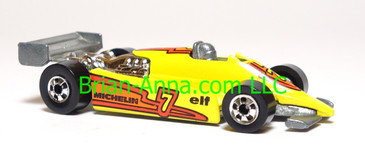 Hot Wheels Turbo Streak, Yellow, Blackwall wheels, loose