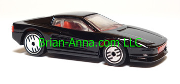Hot Wheels Ferrari Testarossa, Black, UH wheels, Malaysia base, loose