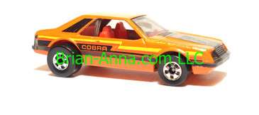 Hot Wheels Turbo Mustang Orange, Blackwall wheels, Hong Kong base, loose