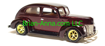 Hot Wheels Fat Fendered 40, Dark Red, Gold PC6 wheels, China base, loose