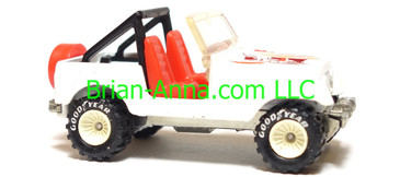 Hot Wheels Jeep CJ-7, White with white hub Real Riders, Malaysia base, loose